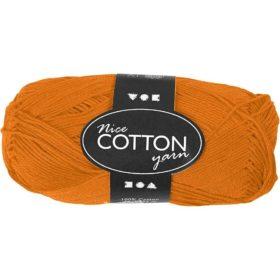 Cotton 100% bomull 50g - orange
