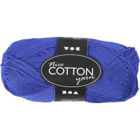 Cotton 100% bomull 50g - koboltblå
