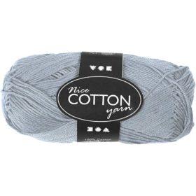 Cotton 100% bomull 50g - lys blå