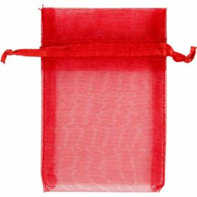 Organzapose rød, 7x10cm, 10stk