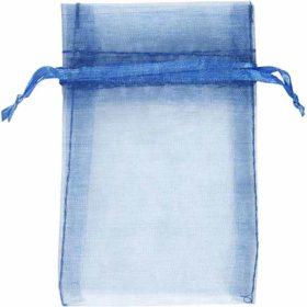Organzapose blå, 7x10cm, 10stk.