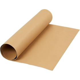 Lærpapir 0,55mm 50x100cm lys brun