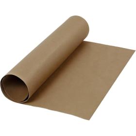 Lærpapir 0,55mm 50x100cm mørk brun