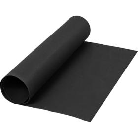 Lærpapir 0,55mm 50x100cm sort