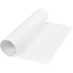 Lærpapir 0,55mm 50x100cm hvit