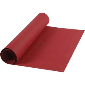 Lærpapir 0,55mm 50x100cm rød