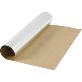 Lærpapir 0,55mm 49x100cm sølv
