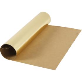 Lærpapir 0,55mm 49x100cm gull
