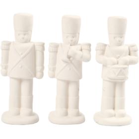 Nøtteknekker, H: 14 cm, hvit, 3stk.