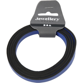 imitert lærbånd 10x3mm, 1m blå