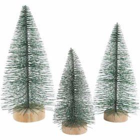Grantrær, H:10+13+14 cm, 3stk.