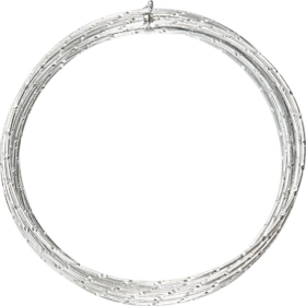 Alutråd 2mm sølv diamond 7m