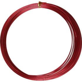 Alutråd 1mm rød 16m