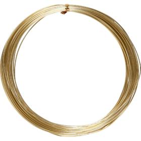 Alutråd 1mm gull 16m