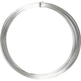 Alutråd 1mm sølv 16m