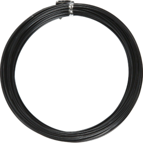 Alutråd 2mm sort 10m