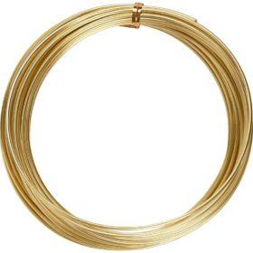 Alutråd 2mm gull 10m