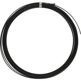 Alutråd flat 3,5mm sort 4,5m