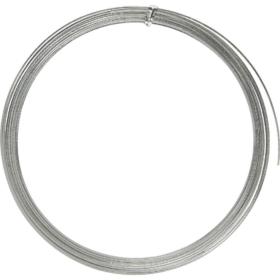 Alutråd flat 3,5mm sølv 4,5m