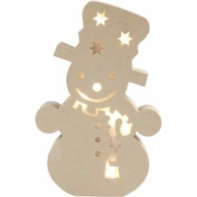 Snømann med lys 27cm