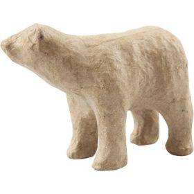 Isbjørn, H: 8,5 cm, L: 11,5 cm, 1stk.