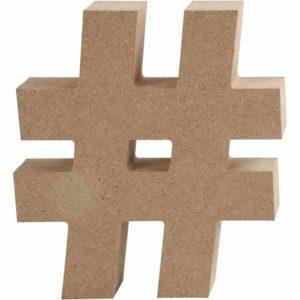 # - hashtag 13cm