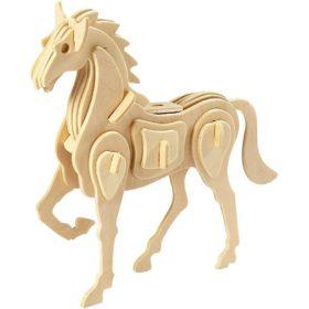 3D puzzle hest