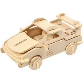 3D puzzle bil