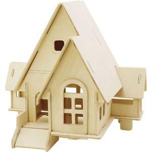 3D puslespill hus 19x22,5cm