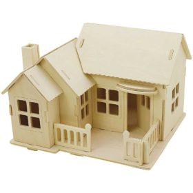 3D puslespill hus 13x19cm