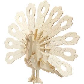 3D puzzle påfugl