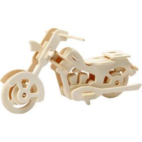 3D puzzle motorsykkel
