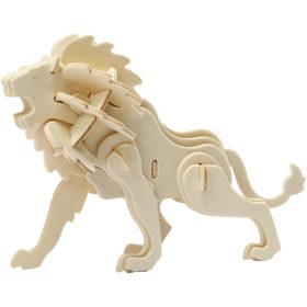 3D puzzle løve