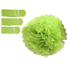 papirpomponer dia.20+24+30cm grønn