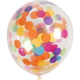 ballonger med konfetti transparent 23cm, 4stk
