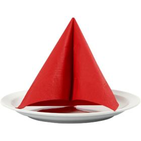 Servietter 33x33cm rød