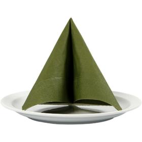 Servietter 33x33cm mørk grønn