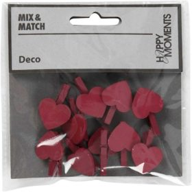 klype m hjerte 10stk rosa