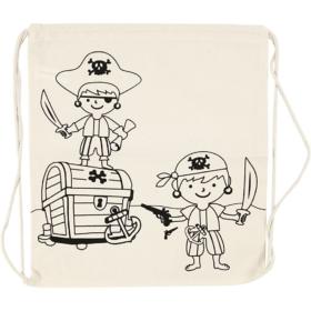 Stoffpose, str 37x41cm, pirater