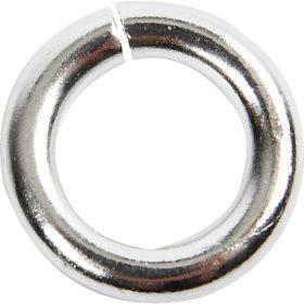 sølvring 2x7mm 30stk