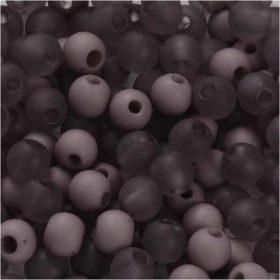 Plastperler 6mm, lilla, 40g