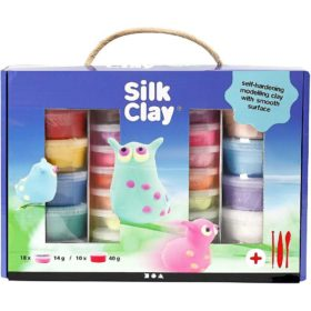 Silk clay gaveeske ass. farge