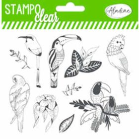 Aladine Tropical Birds Clear Stamps