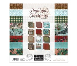 Couture Creations Highland Christmas 12x12 Inch Paper Pack