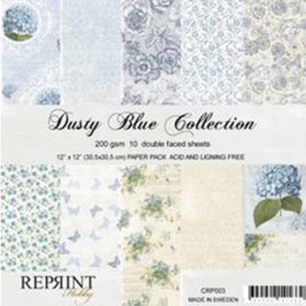 Reprint Dusty Blue 12x12 Inch Collection Pack