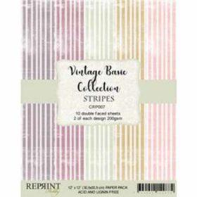 Reprint Stripes Basic 12x12 Inch Paper Pack
