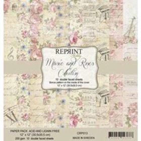 Reprint Music & Roses 12x12 Inch Paper Pack