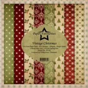 Dixi Craft Paper Favourites Vintage Christmas 6x6 Inch Paper Pack