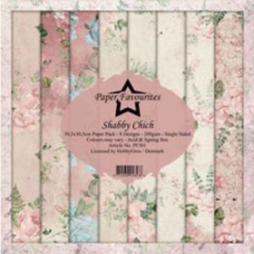 Dixi Craft Paper Favourites Shabby Chich 12x12 Inch Paper Pack