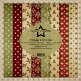 Dixi Craft Paper Favourites Vintage Christmas 12x12 Inch Paper Pack